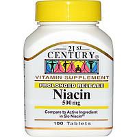 21st Century, Ниацин, пролонгированное высвобождение, 500 мг, 100 таблеток