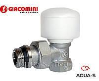 """Клапан радиаторный ручной (регулирующий) угловой DN 1/2"""" Giacomini"""
