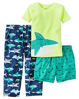Пижамный комплект Carters из 3-ех единиц; 7 лет