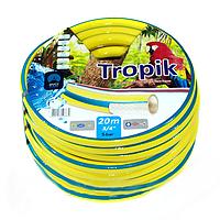 Шланг ПВХ армированный пищевой Garden Hose Tropik, диаметр ¾ дюйма, желто-синий, 3 слоя, 50 м