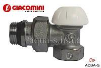"""Клапан запорный настроечный для радиатора (на """"обратку"""") угловой DN 1/2"""" Giacomini"""