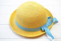 Шляпа детская Эйлат с лаконичными полями украшена нежной лентой