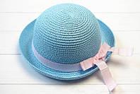 Шляпа детская декорирована нежной лентой