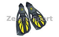 Ласты с закрытой пяткой (калоша цельная) DORFIN  (M/38-39,МL/40-41,XL/44-45, желтый, синий, черный)