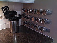 Набор контейнеров для специй Wall Mounted Magnetic Spice Rack