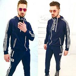 Мужской стильный спортивный костюм с капюшоном, реплика бренда Adidas, серия он и она