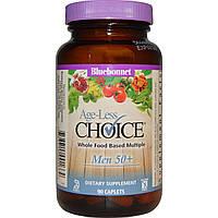 Bluebonnet Nutrition, Targeted Multiples, Age-Less Choice, омолаживающий комплекс для мужчин 50+, 90 каплет