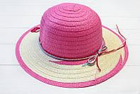 Модная плетенная широкополая шляпа