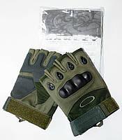 Тактические перчатки беспалые темные OAKLEY