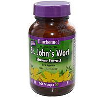 Bluebonnet Nutrition, Цветочный экстракт зверобоя, 60 вегетарианских капсул