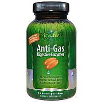 Irwin Naturals, Пищеварительные ферменты для борьбы с газообразованием, 45 мягких желатиновых капсул с жидкост