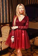 Женский комплект кружевной боди+юбка