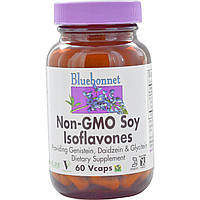 Bluebonnet Nutrition, Изофлавоны сои без ГМО, 60 капсул на растительной основе
