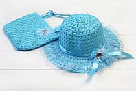Шляпа и сумка нежно-голубого цвета