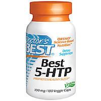 Doctor's Best, 5-гидрокситриптофан Best, 100 мг, 180 вегетарианских капсул