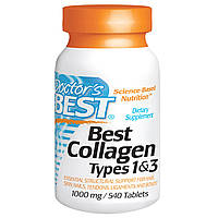 Doctor's Best, Коллаген, тип 1 и 3 (Best Collagen Types 1 & 3), 1000 мг, 540 таблеток