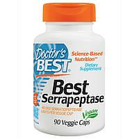 Doctor's Best, Серрапептаза (Best Serrapeptase), 90 растительных капсул