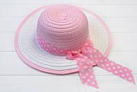 Летняя плетенная шляпка