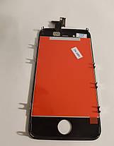 Модуль (сенсор + дисплей) Apple iPhone 4 high copy чорний, фото 3