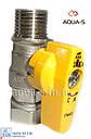 """Кран газовый Bianchi DN 1/2""""x1/2"""" (ВН) прямой с накидной гайкой (Италия), фото 2"""