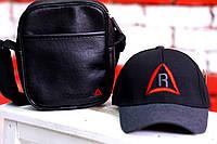 Мужская сумка через плечо и кепка рибок (Reebok)