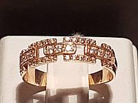 Золотое кольцо с фианитами. Артикул 380076 17,5, фото 1