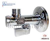 """Кран угловой приборный с фильтром для подключения стиральных и посудомоечных машин 1/2""""x3/4"""" Bianchi Fratelli"""