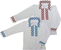 Рубашка с длинным рукавом (вышивка, на кнопках)
