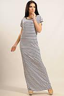 Длинное женское платье в полоску КРУИЗ ТМ Ри Мари  42-52 размеры