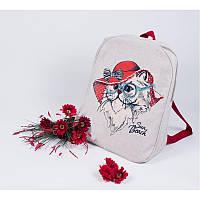 Набор для изготовления рюкзака с вышивкой 8540. ЛЕДИ В КРАСНОМ