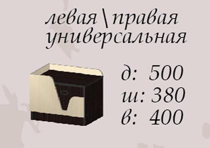 Тумба прикроватная Арья схема