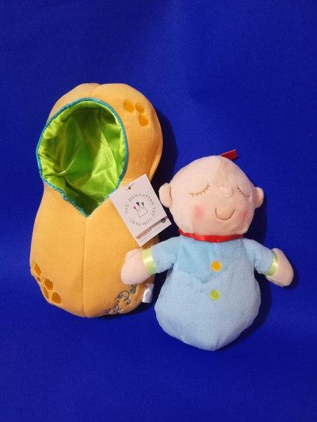 Мягкая кукла сплюшка Manhattan toy в люльке
