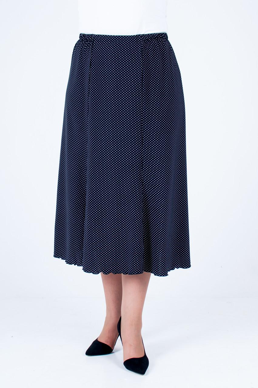 Женская летняя юбка на резинке, годэ в горошек