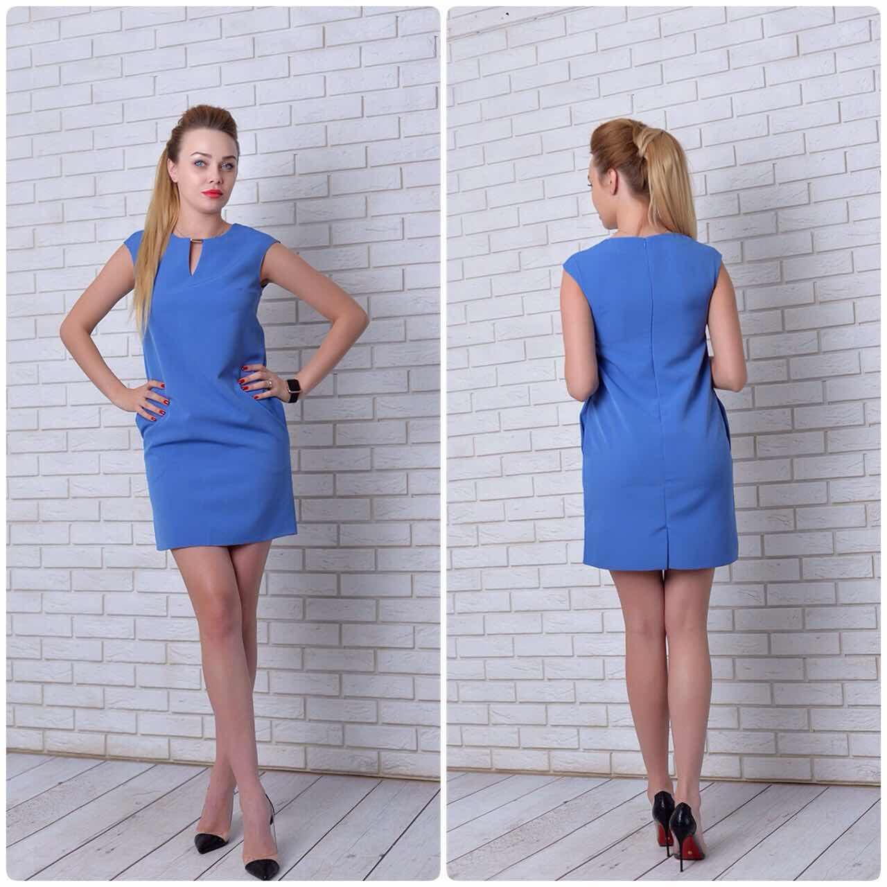Платье (747) сине-голубой