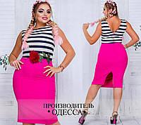 Платье женское нарядное трикотаж,креп-стрейч. размеры 46-60