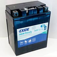 EXIDE SLA12-14 / AGM12-14 Мото аккумулятор 12 А/ч, 200 А, (-/+), 134х86х166 мм