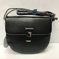 Cумка клатч Diana&Co 2157 женская черная с плечевым ремнем