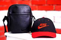 Красно-черная бейсболка мужская найки (Nike), кепка