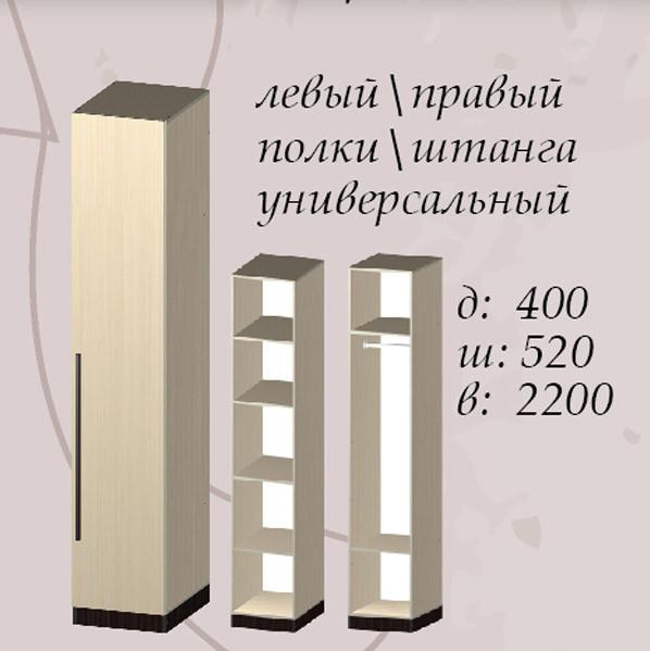 Шкаф Арья 400 схема