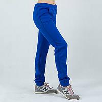 Синие женские спортивные штаны теплые