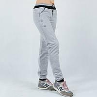 Серые трикотажные женские спортивные штаны