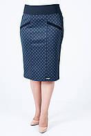 Женская трикотажная юбка Берта бордовый ромб