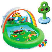 Надувной игровой центр-бассейн с фонтанчиками и тентом Радуга Countryside Play Center