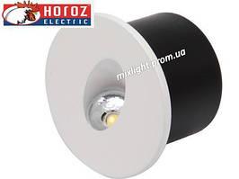Светодиодный светильник круглый для освещения лестниц,ступеней 3W Horoz Electric HL 958L Yakut