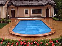 Установка солярного накрытия и сматывающего устройства на бассейн