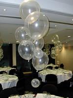 """Латексные шары Пастель Прозрачные 12"""" (28-30 см), 100 шт. ТМ Gemar"""