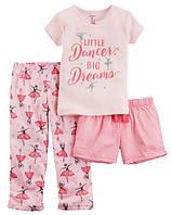 Пижама Carters из 3-ех единиц; 10 лет