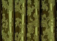 """Портьерная ткань  """"Геральдика"""" двухсторонняя, зеленый"""