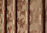 """Портьерная ткань  """"Геральдика"""" двухсторонняя,коричневый"""