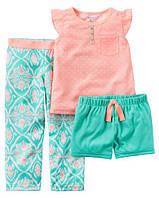 Пижама Carters майка, шорты и штаны; 8 лет
